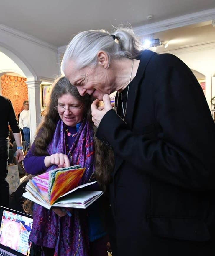 Hilary Oak and Alex Grey at Chapel of Sacred Mirrors