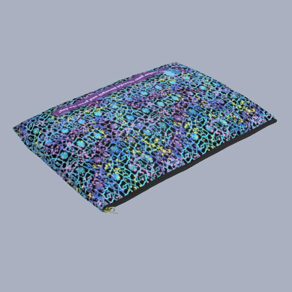 Electric Lace Zip pouch flat