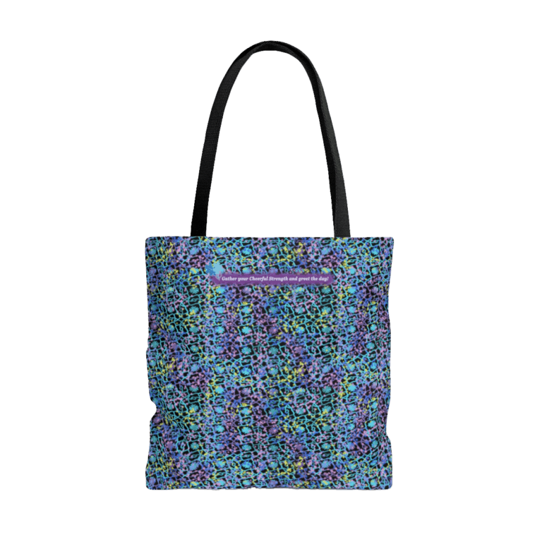 Electric Lace tote bag