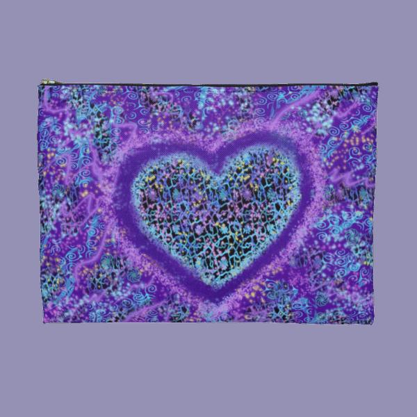 Joyful Heart zip pouch back