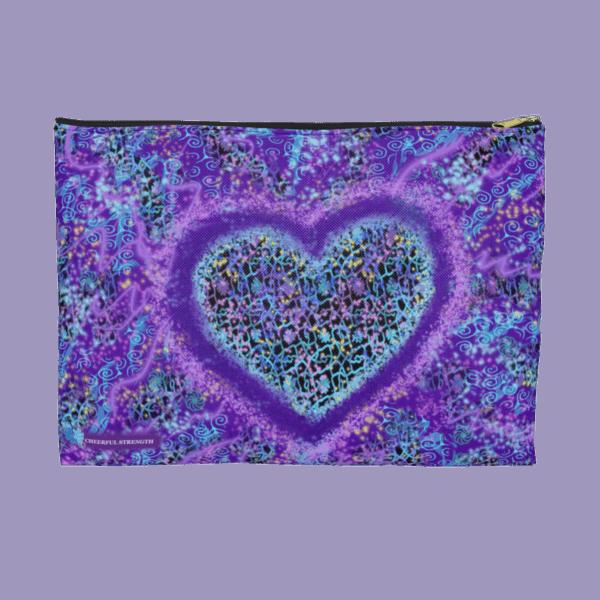 Joyful Heart zip pouch